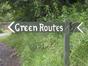 green route sign